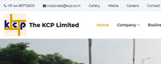 Corporate Website Development for The KCP Limited, Manufacturing and Service Based Company.